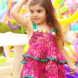 Beautiful little girl on birthday party — Stock Photo #12315494