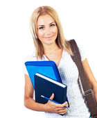 Happy female teen student portrait — Stock Photo