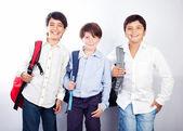 Three cheerful teenagers — Stock Photo
