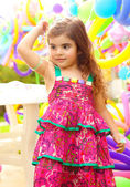 Beautiful little girl on birthday party — Stock Photo