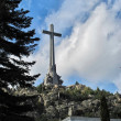 Stock Photo: Large cross Valley of Fallen (Valle de los Caidos)