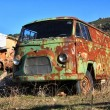 Old green van abandoned old rusty — Stock Photo #11312270