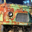 Old green van abandoned old rusty — Stock Photo #11477425