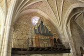 圣科斯梅在 covarub 学院教堂内部拱架 — 图库照片