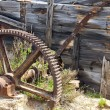 Stock Photo: Old iron gear abandoned