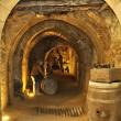 Filling cellar caves beneath city of Arandde Duero Spa — Photo #11610824