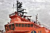 Bridge of maritime rescue boat — Stock Photo