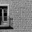 Window in old stone building - Stock Photo