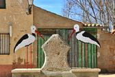 Decorative figures source storks — Stock Photo