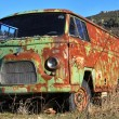 Old green van abandoned old rusty — Stock Photo #11724718