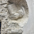 Stock Photo: Modern sculpture in stone tribute to literature