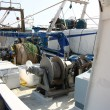 Engines to bring the nets on fishing vessels — Foto Stock