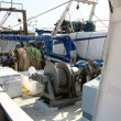 Engines to bring the nets on fishing vessels — ストック写真