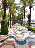 Famous Square La Explanada in Alicante Spain — Stock Photo