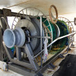 Engines to bring the nets on fishing vessels — Stock Photo