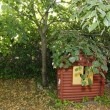 Playhouse preserved under tree full of leaves — Stock Photo #12174597