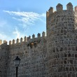 Stock Photo: Old wall surrounding city Avila, Spain