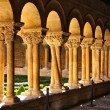 Details of the columns of the famous Monastery of Silos in Spain — Stock Photo #12244546