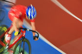 Running at high speed cyclists — Stock Photo