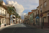 Typical street in the town of Aspe, Spain — Stock Photo