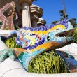 Dragon salamandra of gaudi  in park guell - Stock Photo