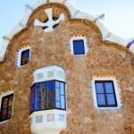 Barcelona park Guell fairy-tale mosaic house — Stock Photo #10811907
