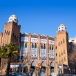 Barcelona bullring La Monumental byzantine and mudejar - Stock Photo