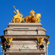 Barcelona ciudadela park Aurora golden quadriga — Photo