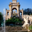 Barcelona ciudadela park lake fountain and quadriga — Foto Stock