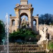Barcelona ciudadela park lake fountain and quadriga — Stock Photo #10813802
