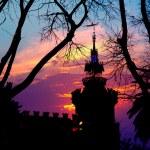 Барселона Сьюдадела три Дракон Замок — Стоковое фото