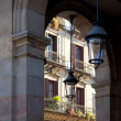 BarcelonBorne barrio arcade in street — Stock Photo #10814952