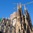 Barcelona Sagrada Familia cathedral by Gaudi - Stock Photo