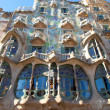 Barcelona Casa Batllo facade of Gaudi - Stock Photo
