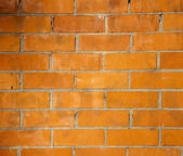 Brickwall pattern texture in orange color — Stock Photo