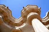 Hundred Columns Chamber Barcelona Park Guell — Stock Photo