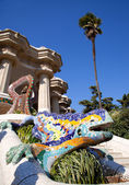 Dragon salamandra of gaudi in park guell — Stock Photo