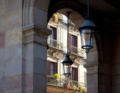 Barcelona Borne barrio arcade in street — Stock Photo