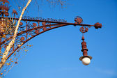 Barcelona Paseo de Gracia streetlight Falques — Stock Photo