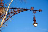 Barcelona Paseo de Gracia streetlight Falques — Stock Photo