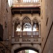 Stock Photo: Barcelona Palau generalitat in gothic Barrio