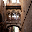 Barcelona Palau generalitat in gothic Barrio — Stock Photo