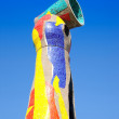 Dona i Ocell sculpture of Joan Miro in Barcelona - Stock Photo