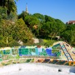 Barcelona Park Guell of Gaudi modernism - Stock Photo