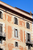 Barcelona city buildings facade in Sant Pere street — Stock Photo