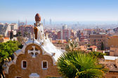 Barcelona park Guell fairy tail mosaic house — Stock Photo