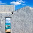 Stock Photo: Balearic islands idyllic beach from house door