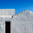 Ibiza Santa Agnes whitewashed houses — Stockfoto