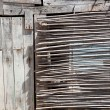 Aged grunge gray wood in mediterranebalearics — Stock Photo #11350614