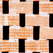 Brick partition wall with holes for airflow — Stock Photo